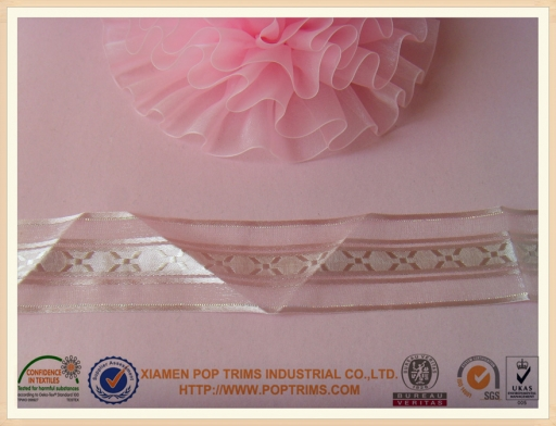 sheer organza ribbon for gift packaging
