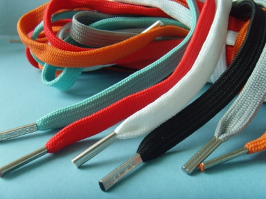 polyester flat metal tips shoelace