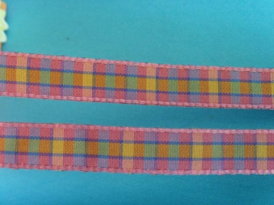 christmas decorative tartan ribbon