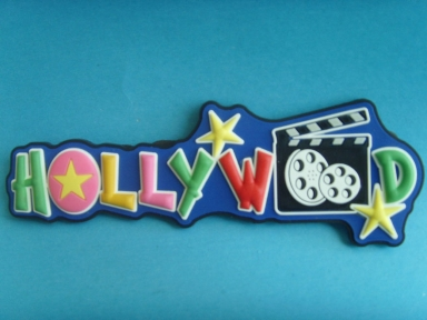 placas de goma 3d Letras Hollywood