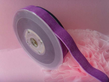 Single face elastic Velvet Ribbon