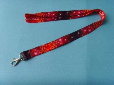 red sublimation printing lanyard