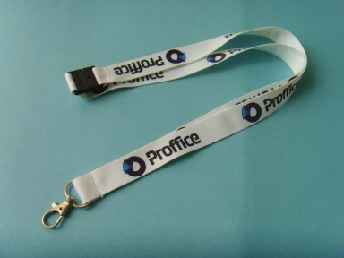 Double face print polyester lanyards