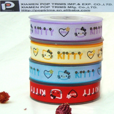 Custom Printed colorful Grosgrain Ribbon