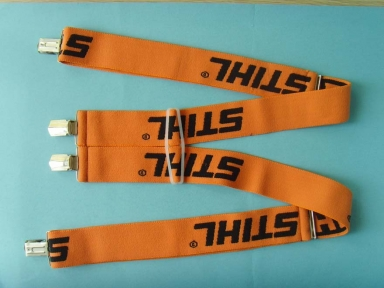 orange color with black woven logo elastic suspenders